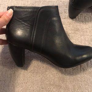 Loeffler Randall black leather Ankle boot